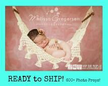 RTS Newborn Baby Hammock Photography Prop, Mini Me Au Natural, Newborn Photography Prop, Boy, Girl, Yarn, Props, Toy Hammock, Custom Props