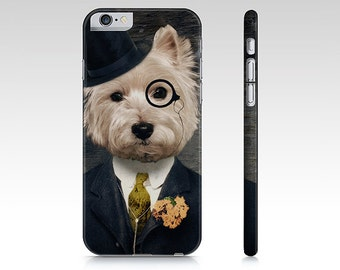 iphone 6 case Samsung Galaxy S5 Case Westie Dog Westie Art Cellphone Case Gear West Highland Terrier Pet Portrait - Sir Bunty