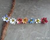 Daisy Flower Dangle Charm Bead Antiques Brass  Dreadlock Accessory Extension Accessories Dread Boho Bohemian Hippie