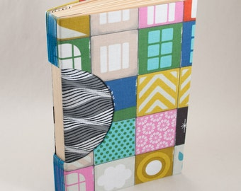 Blank Handbound Book, Journal, Notebook, Sketchbook or Guestbook with a Funky Cover