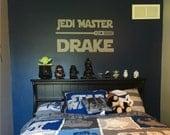 Star Wars Jedi Master Decal - Star Wars Decal - Star Wars Wall Decal - Star Wars - Star Wars Bedroom - Star Wars Decor - Star Wars Vinyl