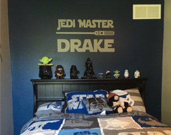 Star Wars Jedi Master Decal - Star Wars Decal - Star Wars Wall Decal - Star Wars - Star Wars Bedroom - Star Wars Decor - Star Wars Vinyl