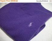 50% Off Sale Ralph Lauren Pure Cashmere Sweater size Medium Large Xlarge Plum Purple Cashmere Bust 42