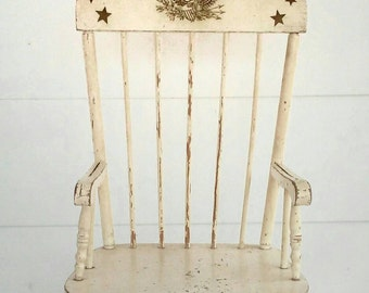 Vintage Rocking Chair -Wood- Eagle - Children's - Furniture SALE was 85.00