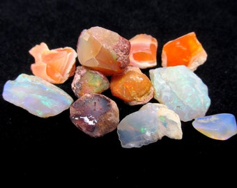 50ct Rough Opal LOT of 11 Natural Gemstones - Jewelry Supply Wire Wrapping