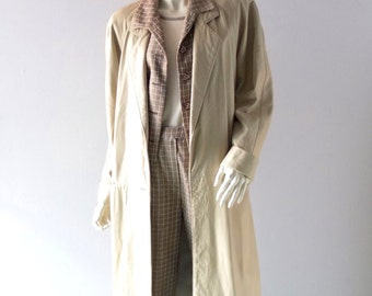 Leather Coat 1980s size SM Med 4 6 8 Bone White Long Maxi Coat - Enman's Furriers Asheville North Carolina - Designer Matrix Style
