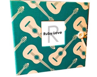 BABY BOOK | Modern Guitars Baby Book | Ruby Love Modern Baby Memory Book