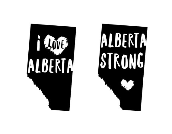 I Love Alberta or Alberta Strong Stamps