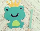 Prince Frog Cake Topper- smash cake, first birthday
