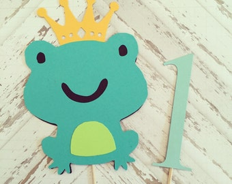 Prince Frog Cake Topper- smash cake, first birthday