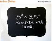 Buy 2 Get 1 FREE- Large Fancy Vinyl Chalkboard Labels Self Adhesive  - SET OF 6 -  Make your own mini chalkboards