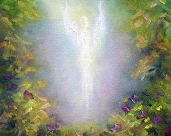 Angel Art, Angel Print Poster, Wall Art, Home decor,Healing Angel Art Print, Spiritual Art,