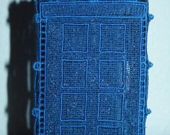 Blue Lace Tardis Police Box