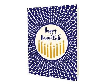 Radiant Hanukkah Cards, Box of 10 - Hanukkah Cards - Happy Hanukkah - OC1177-BX