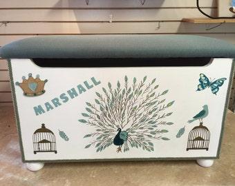 Peacock Toy Box