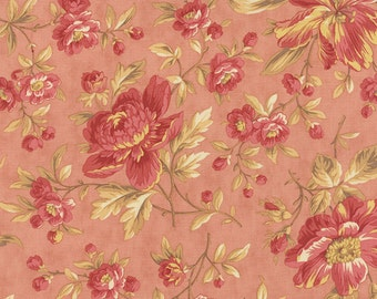 SALE Larkspur by 3 sisters for Moda  Garden Blooms in Blossom 1 yard   YES!! Continuous fabric cuts and combined shipping