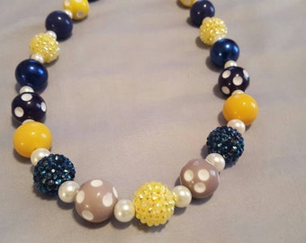 Blue Mustard Necklace