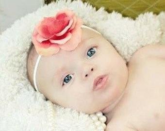 CORAL FLOWER Baby Girl Skinny Stretch Headband