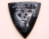 Very Rare  Magnetite in Black Jade cabochon