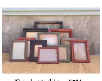 Picture Frame - Picture Frames - Rustic Picture Frame - Wood Picture Frame - Rustic Frame - Modern Decor - Chic