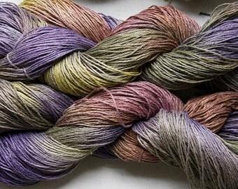 Linen 16/4, Hand painted yarn, 300 yds - Deep Woods