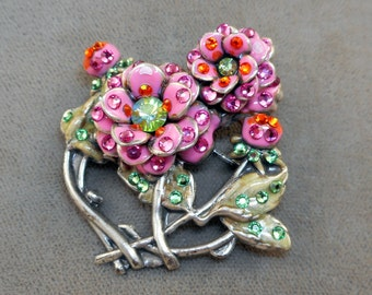 Anne Koplik Flower Brooch