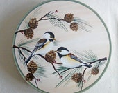 """On reserve for  Ann   12"""" Lazy Susan with Chickadee Design"""