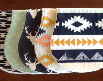 Burp Cloths Aztec Burp Cloths Boy Burp Cloths Burp Clothes Tribal Burp Cloths Organic Burp Cloths Baby Burp Cloths Burp Cloth Burp Rags