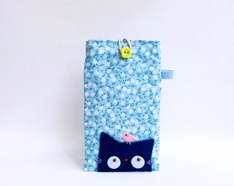 Iphone 6 Case, Iphone 6 Cover, Iphone 6 pouch, Iphone 6 Case Fabric, Mobile Case Cat, Cat Cell Phone Case