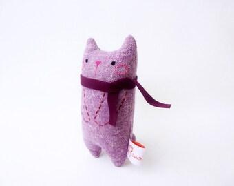 Cat Doll, Art Doll, Cat Miniature, Desk Toy, Stuffed Doll Cat, Plush Cat