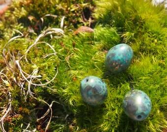 Byzantine Bronze Robin Easter Eggs