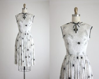 1950s blooms day dress