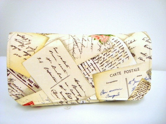 Coupon Organizer /Budget Organizer Holder-Attaches to Your Shopping Cart - French Post Card