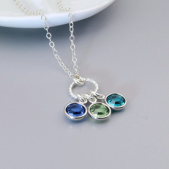 birthstone necklace mother 39 s necklace family birthstone. Black Bedroom Furniture Sets. Home Design Ideas