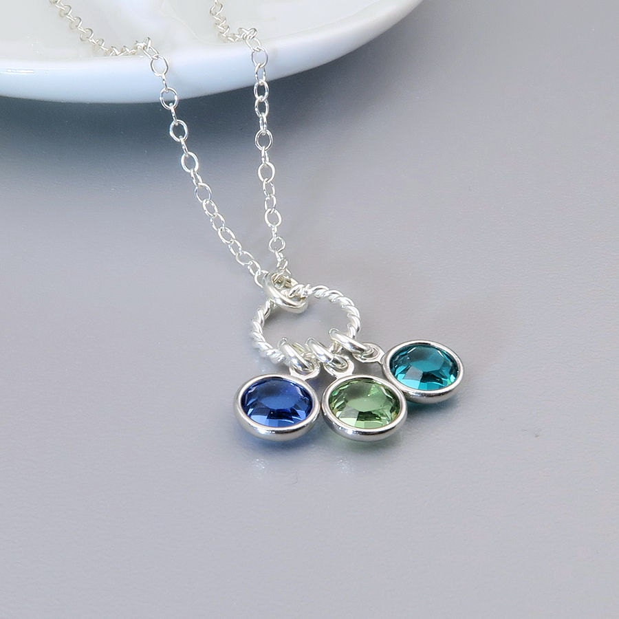 Birthstone Necklace Mother's necklace gift for mom