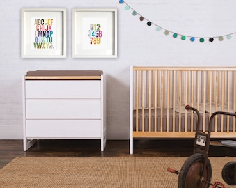 animal alphabet print  // nursery decor // baby // kids room // letters