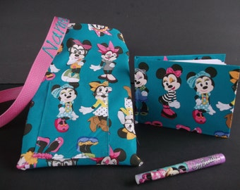 Disney Fashion Minnie Mouse autograph book bag with book, bag and pen Personalized for FREE adjustable strap