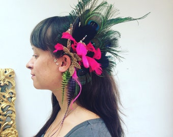 Feather Ear Cuffs Festival Faery Grizzly Feathers
