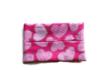 Fabric Tissue Holder -  Hearts