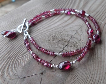 Reserved for Diane Pink Tourmaline Gemstone Birthstone Sterling Silver Bracelet