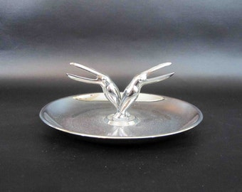 Vintage Art Deco Toucan Ashtray in Chrome. Circa 1950's.