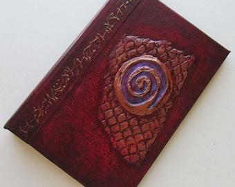 Refillable Journal Handmade Red Spiral Original 6x4