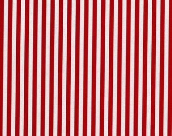 Michael Miller Fabric Clown Stripe Red, Choose your cut