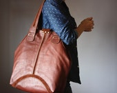Cabas, Brown leather bag, cow hide handbag, oversized leather purse, tote market bag