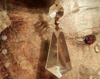 Vintage Glass Chandelier Prism from Rustysecrets