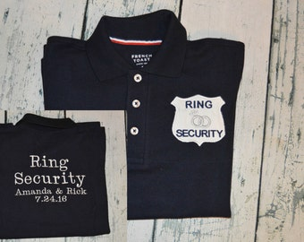 Ring Security Polo Custom Embroidered Shirt for the Ring Bearer Wedding Tee