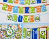Monster Birthday Party Decorations Package Fully Assembled