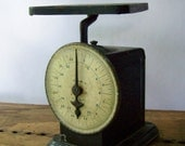 Antique Kitchen Scale ~ Farmhouse ~ Industrial ~ Antique Pelouze Scale ~ Black ~ 1890s