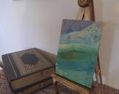 """Vintage Florentine Easel ~ French Country ~ Original ~ 13"""" tall ~ art easel ~ Cream and gold gilt ~ Italian florentine"""