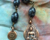 The Loving Kindness Mala in Copper and Black Labradorite. A fundraiser for Alzheimers Research
